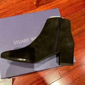 Stuart Weitzman Zepher Black Suede Booties NEW